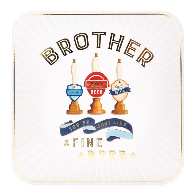 Platinum Collection Birthday Card - Brother Fine Beer