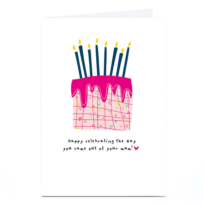 Personalised Whale & Bird Birthday Card - Celebrating The Day