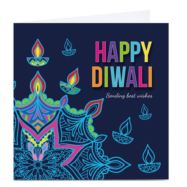 Personalised Roshah Designs Diwali Card - Sending Best Wishes