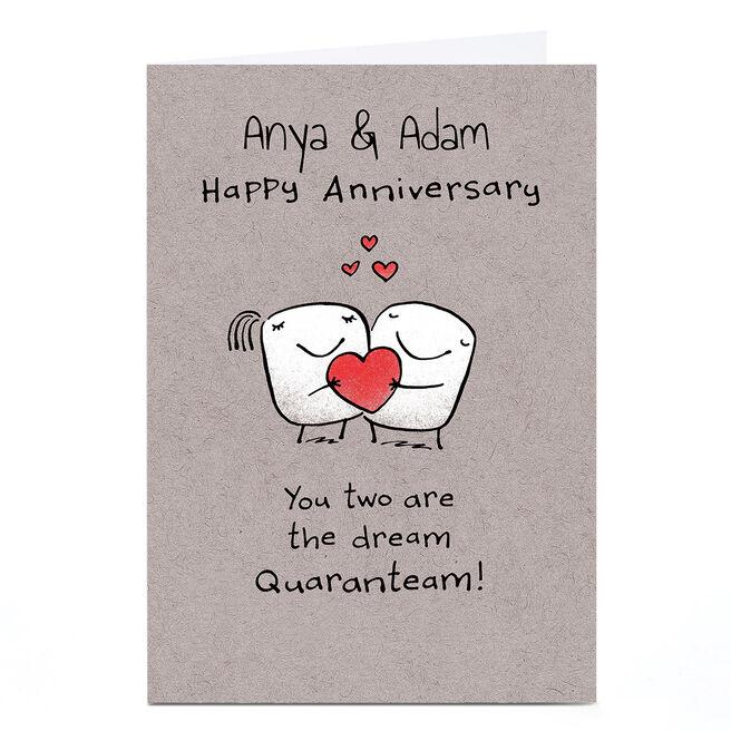 Personalised Lockdown Anniversary Card - Dream Quaranteam!