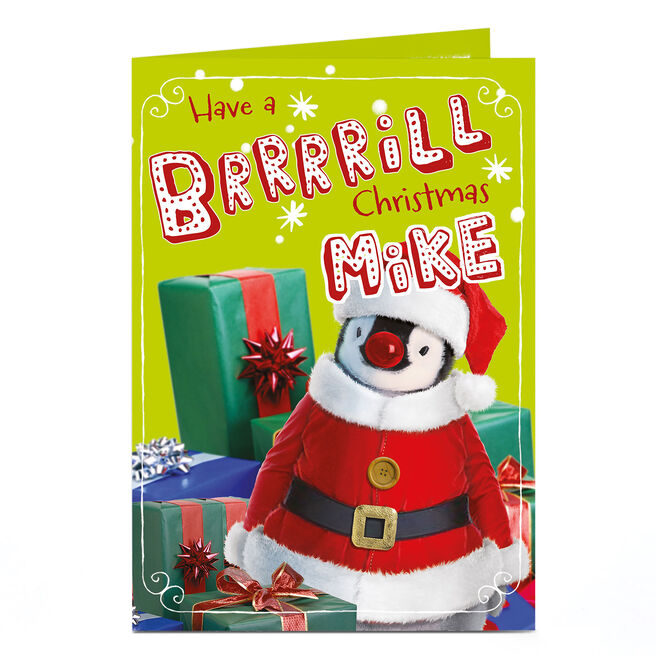 Personalised Christmas Card - Christmas Penguin