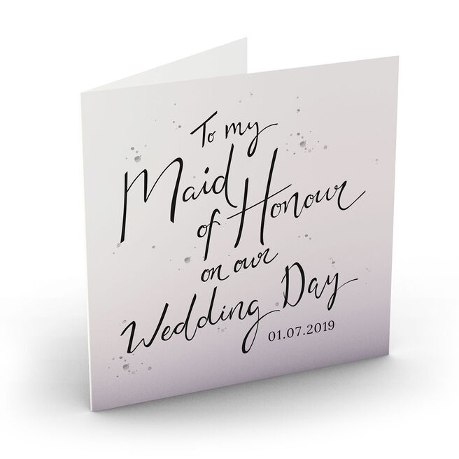 Personalised Wedding Card - Maid Of Honour