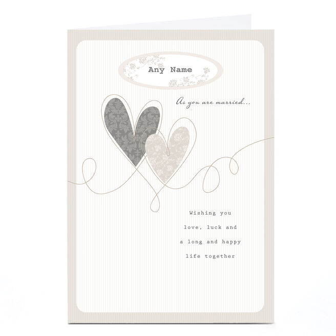 Personalised Wedding Card - Love, Luck & Happiness