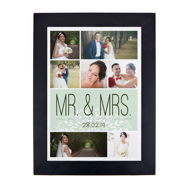 Photo Upload Print - Mr & Mrs