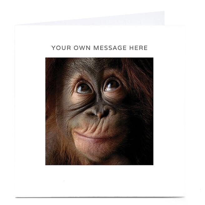 Personalised Card - Chimpanzee