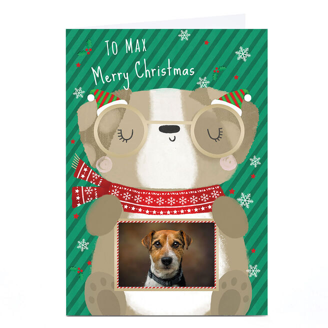 Personalised Christmas Photo Card - To The Dog