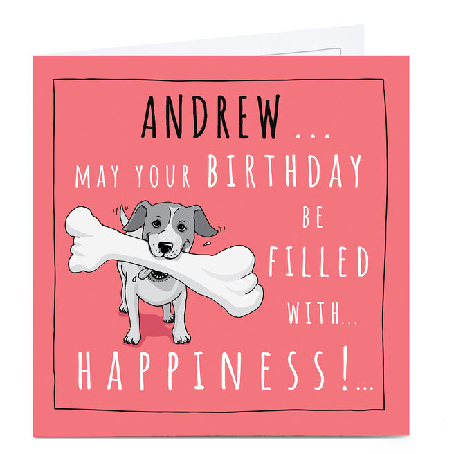 Personalised Totally Pawsome Birthday Card - Filled With Happiness