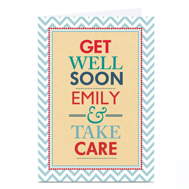 Personalised Get Well Soon Card - Take Care