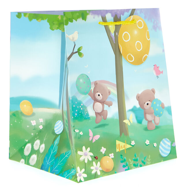 Small Portrait Hugs Bear Easter Gift Bag