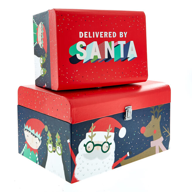 Christmas Toy Chests - Pack Of 2