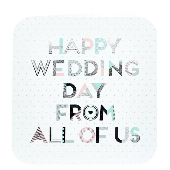 Platinum Collection Wedding Card - From All Of Us