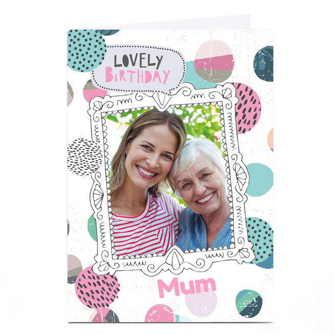 Personalised Bev Hopwood Photo Birthday Card - Lovely Birthday
