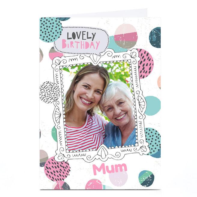 Personalised Bev Hopwood Photo Birthday Card - Lovely Birthday