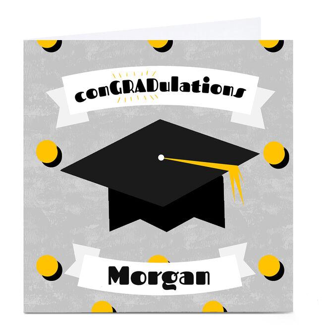 Personalised Phoebe Munger Graduation Card - conGRADulations
