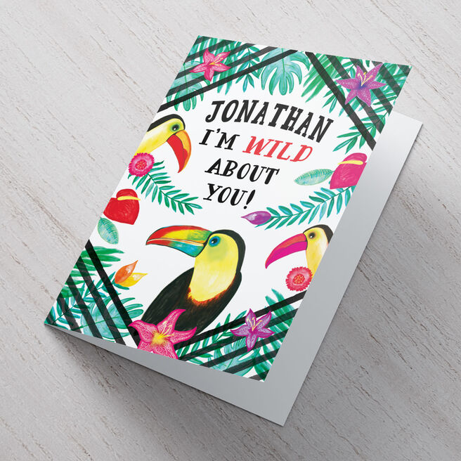 Personalised Card - Wild About You