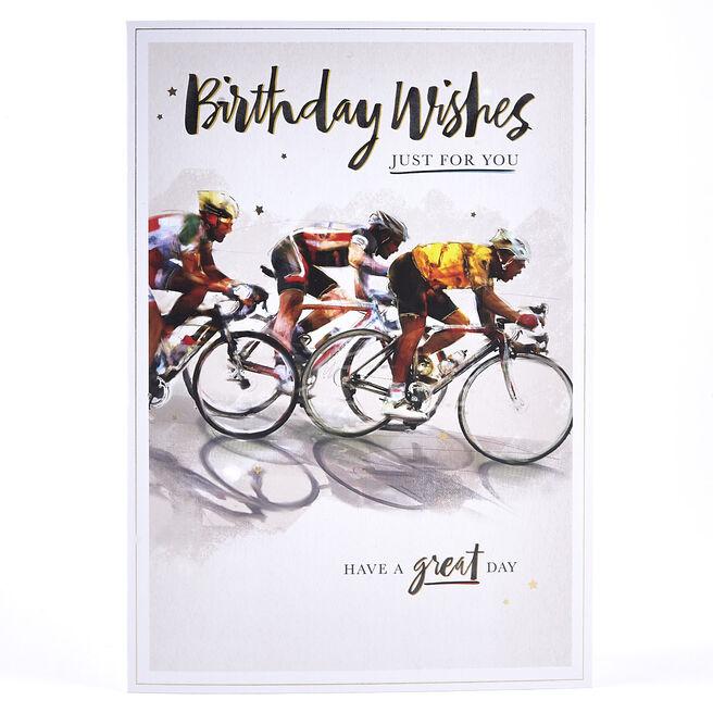 Birthday Card - Cycling Winner
