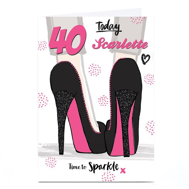 Personalised Any Age Birthday Card - Time To Sparkle