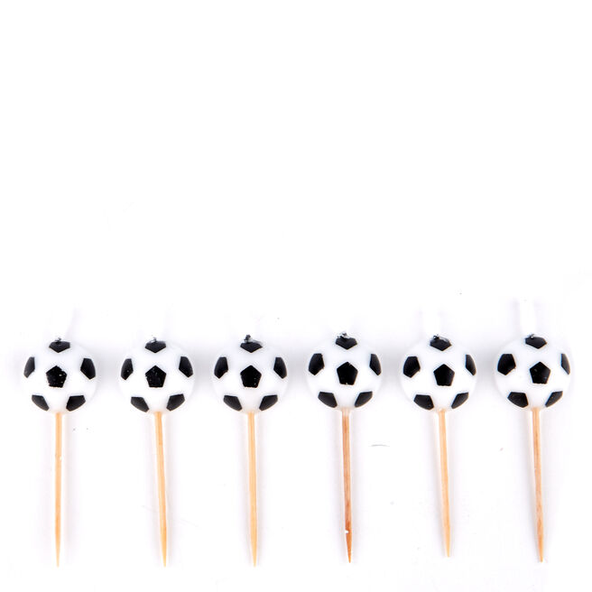 Football Birthday Party Candles - Pack Of 6