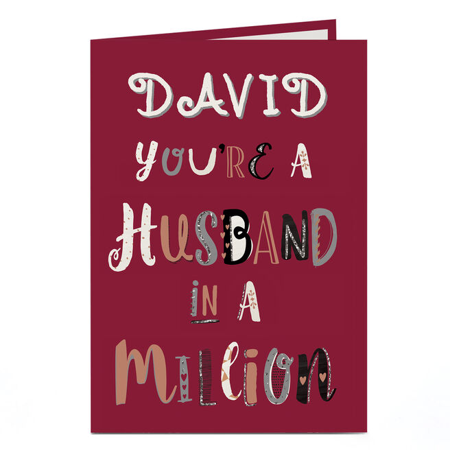 Personalised Card - You're A Husband In A Million