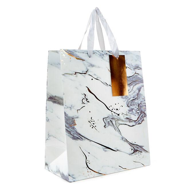 Medium Portrait Gift Bag - Marble