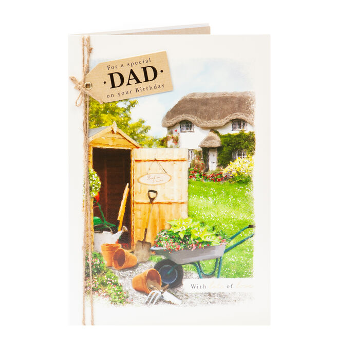 Birthday Card - Special Dad Gardening