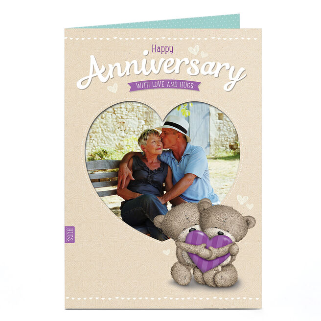 Hugs Anniversary�Photo�Card - Love Heart Frame
