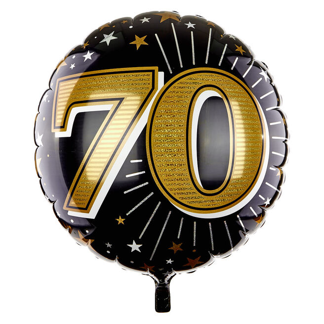31 Inch 70th Birthday Helium Balloon - Gold
