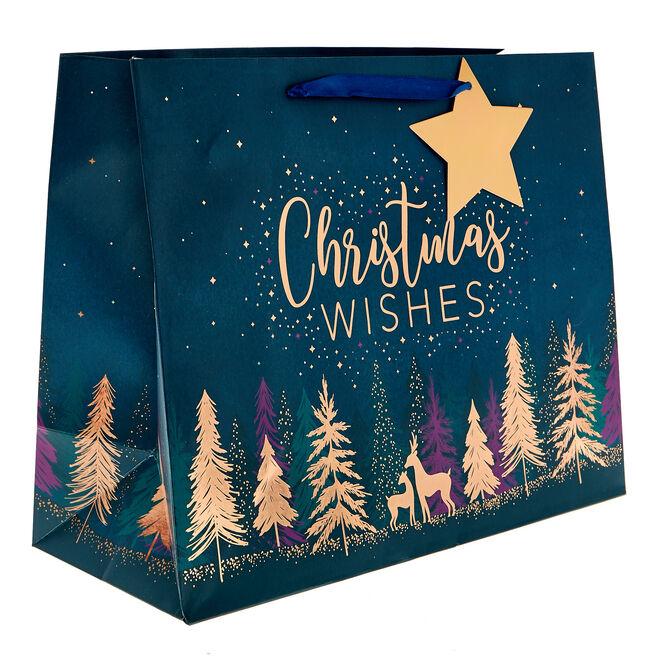 Medium Landscape Festive Trees Christmas Gift Bag