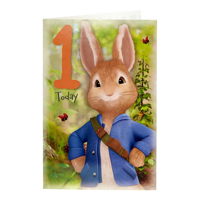 Peter Rabbit 1st Birthday Card