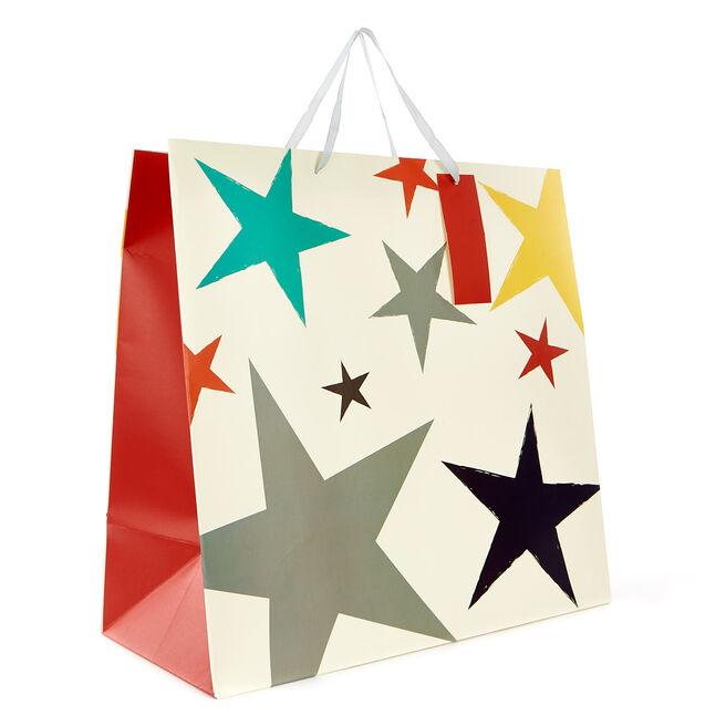 Jumbo Gift Bag - Coloured Stars