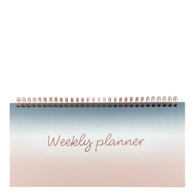 Rose & Grey Ombre Weekly Desk Planner