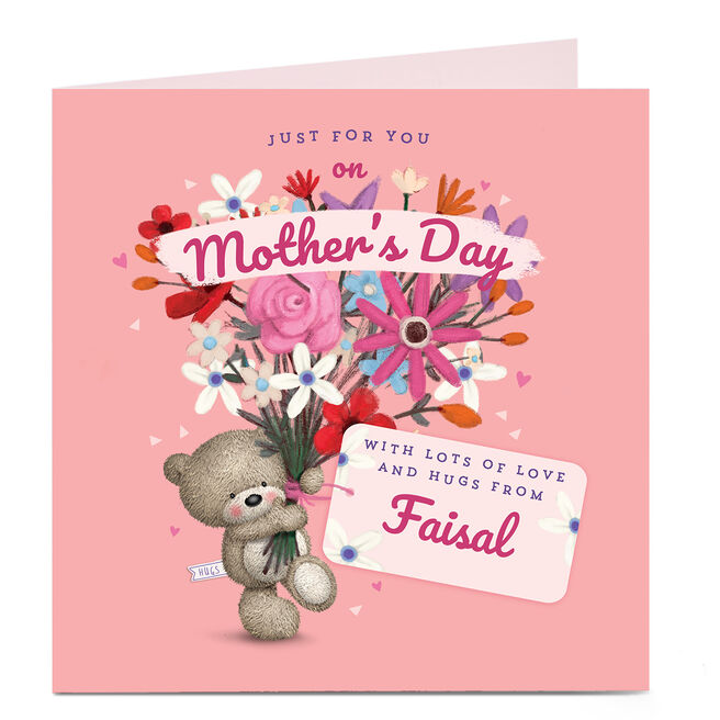 Personalised Mother's Day Card - HUGS Just for You