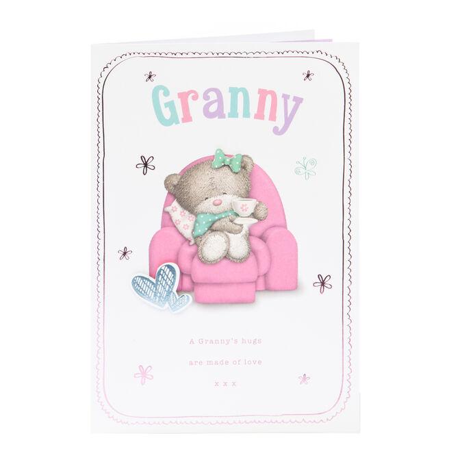 Hugs Bear Birthday Card - A Granny's Hugs