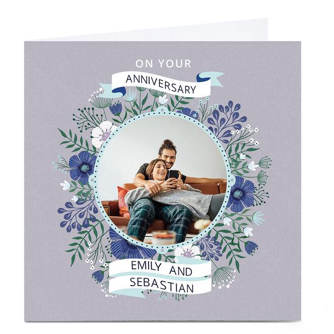 Photo Dalia Clark Anniversary Card - Floral Frame