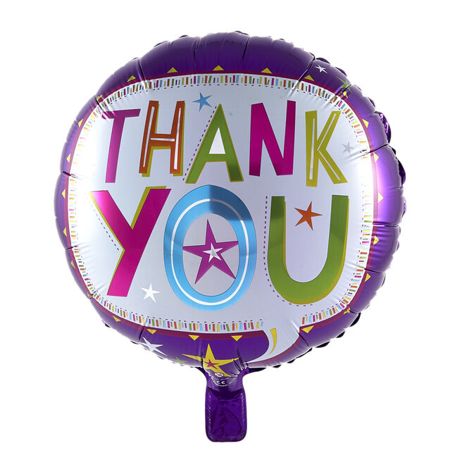 Thank You Speech Bubble Foil Helium Balloon