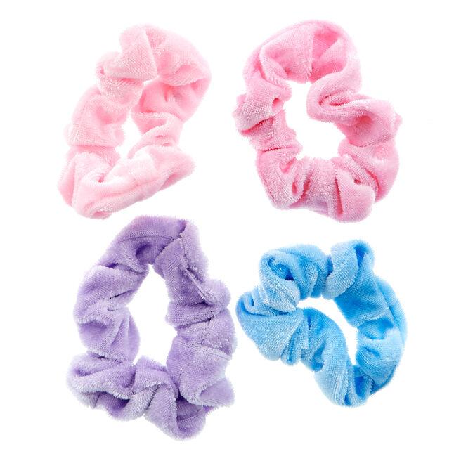 Happy Rainbows Scrunchies - Set Of 4