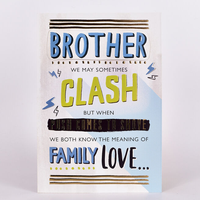 Signature Collection Birthday Card - Brother Clash