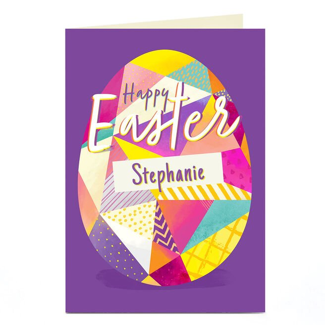 Personalised Easter Card - Geometric Egg