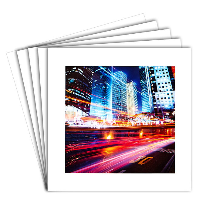 12 Blank Cards - Nighttime City Skyline