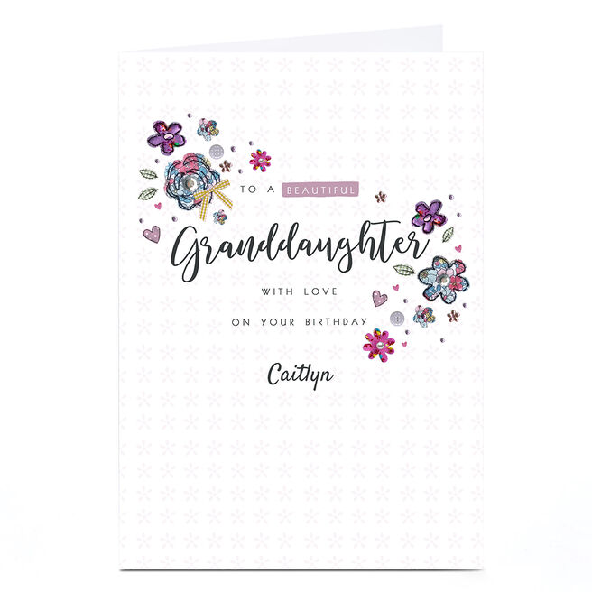 Personalised Birthday Card - Granddaughter