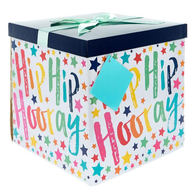 Extra-Large Flat-Pack Gift Box - Rainbow Happy Birthday