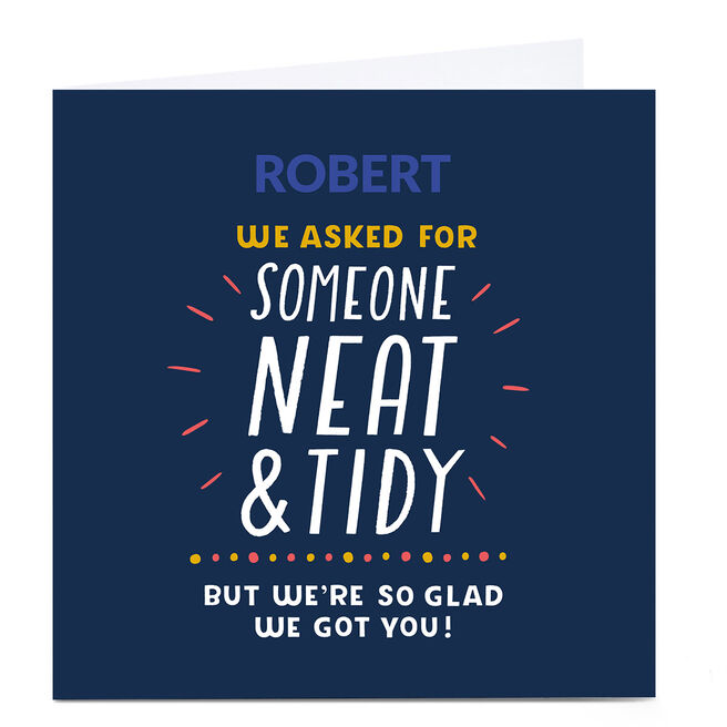 Personalised Larger than Life Card - Neat & Tidy