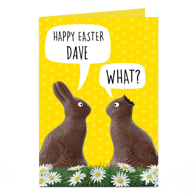 Personalised Easter Card - Chocolate Bunnies