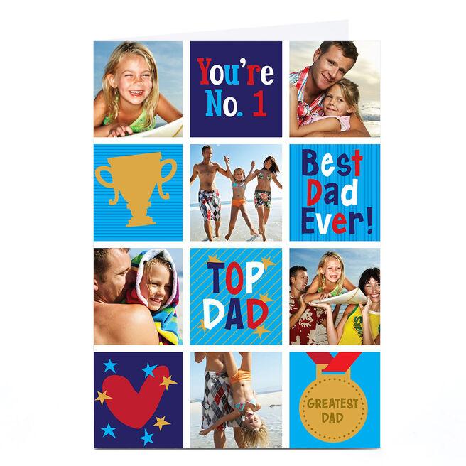 Photo Upload Card - No 1 Dad, Trophy