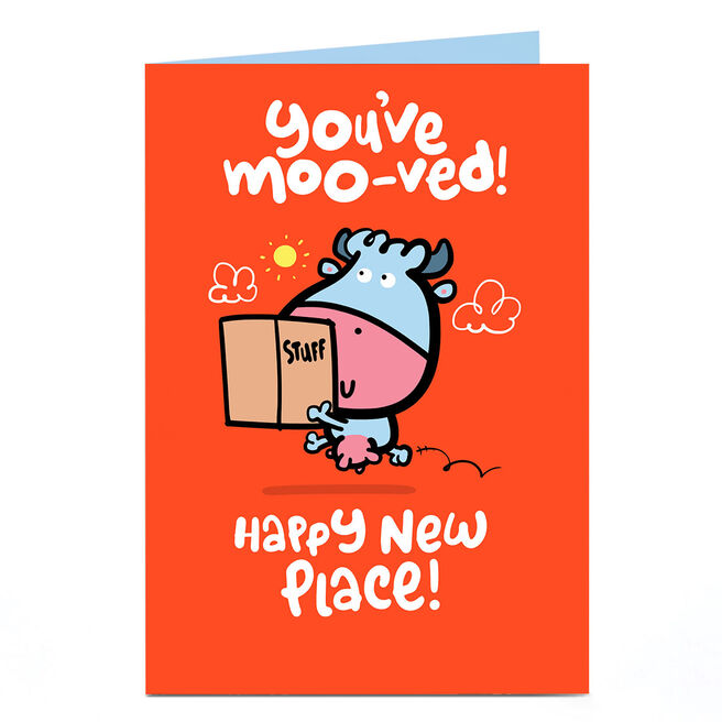 Personalised Fruitloops New Home Card - You've Moo-ved!