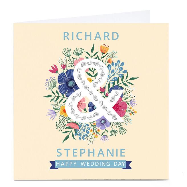 Personalised Dalia Clark Wedding Card - Floral