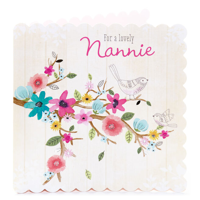 Birthday Card - For A Lovely Nannie