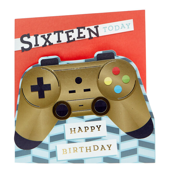 VIP Collection 16th Birthday Card - Sixteen Today