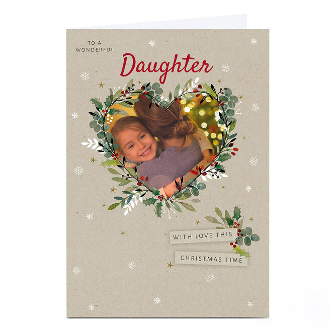 Photo Kerry Spurling Christmas Card - Floral Heart