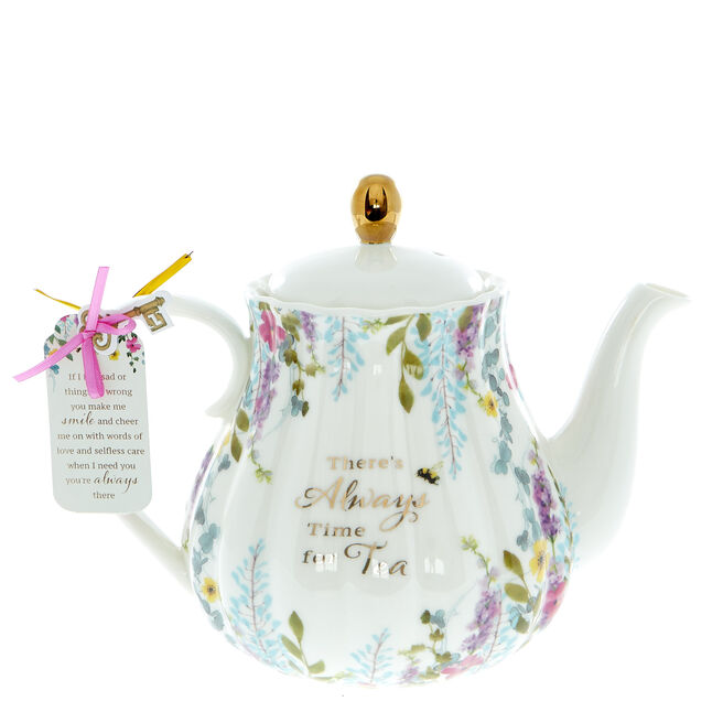 There's Always Time For Tea Ceramic Teapot